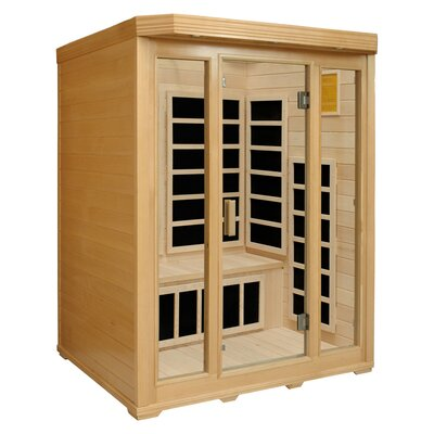 Crystal Sauna 3-Person Infrared Sauna with Seven Carbon Heaters