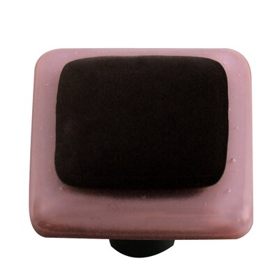 Hot Knobs Borders Cabinet Knob in Black with Dusty Lilac Border