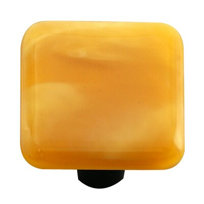 Hot Knobs Swirl Cabinet Knob in Amber