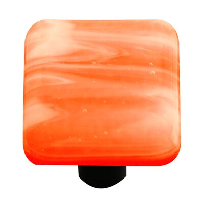 Swirl Cabinet Knob in White / Opal Orange