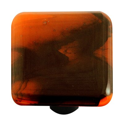 Swirl Cabinet Knob in Black / Opal Orange