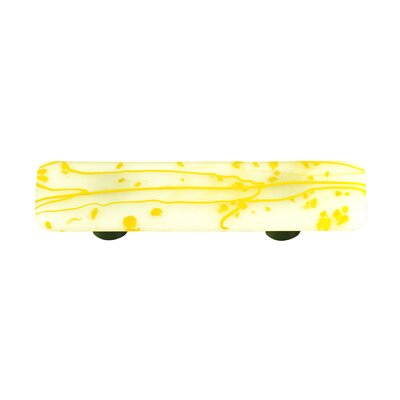 Hot Knobs Mardi Gras Cabinet Pull in Yellow / White