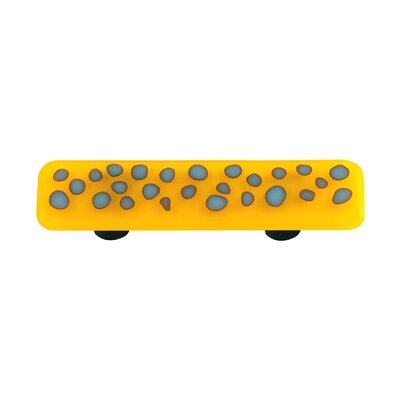 Hot Knobs Reactive Cabinet Pull in Clear Sunflower Yellow