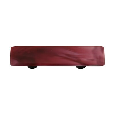 Hot Knobs Swirl Cabinet Pull in Dark Cranberry