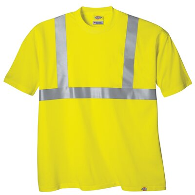 Dickies Extra Large High Visibility ANSI Class 2 T-Shirt in Yellow