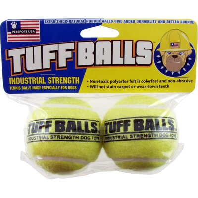 Petsport USA Tuff Balls Industrial Strength Tennis Balls Dog Toy - (2 Count)