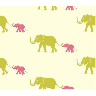 Tempaper Tusk Temporary Wallpaper in Flamingo Pink