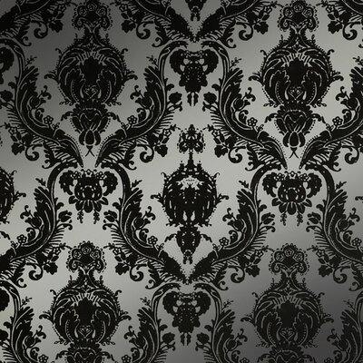 Tempaper Damsel Temporary Wallpaper in Metallic Silver