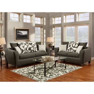 Hokku Designs Fiora Fabric Sofa Set