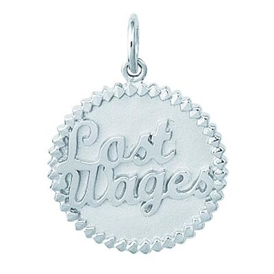EZ Charms Sterling Silver Lost Wages Disc Charm
