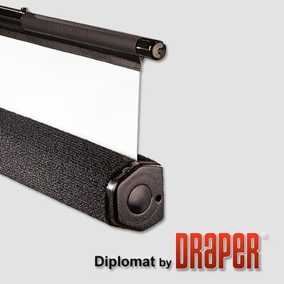 "Draper Matte White Diplomat / R Portable Screen - 96"" x 96"" diagonal AV Format"