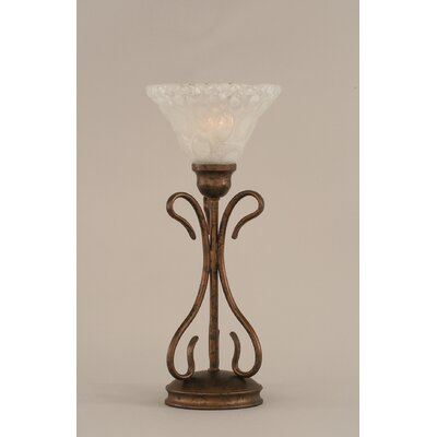 "Toltec Lighting Swan Table Lamp with 7"" Italian Bubble Glass Shade"