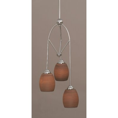 Toltec Lighting Contempo 3 Light Mini Pendant