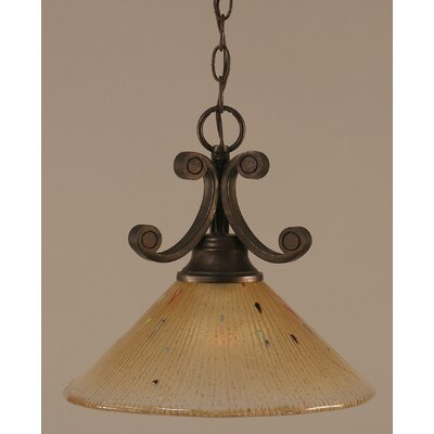 Curl 1 Light Downlight Pendant