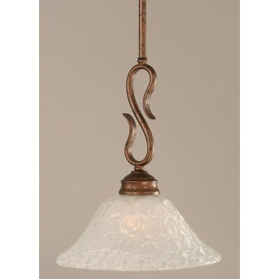 Toltec Lighting Swan 1 Light Mini Pendant