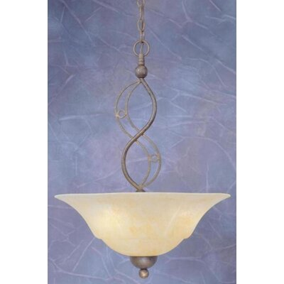 Toltec Lighting Jazz 3 Light Uplight Inverted Pendant