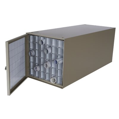 Adir Corp Stackable Steel Roll File with 36 Compartments for Blueprints