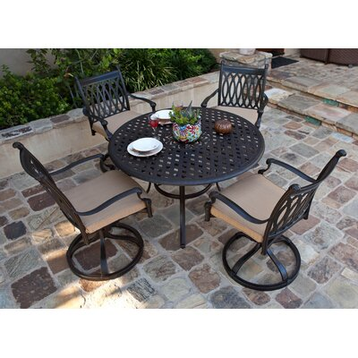 AIC Garden & Casual Newport 5 Piece Dining Set