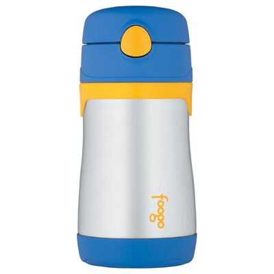 Foogo Phases 10 oz Leak Proof Straw Bottle in Blue