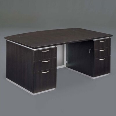 "DMI Office Furniture Pimlico 72"" W Bow Front Executive Desk (Fully Assembled)"