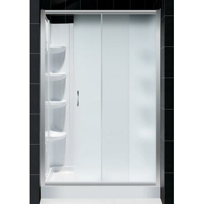 Dreamline Infinity Sliding Shower Door with Amazon Base and BackWall Kit
