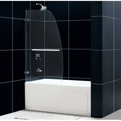 "Dreamline Aqua Uno 34"" x 58"" Single Panel Hinged Tub Door"