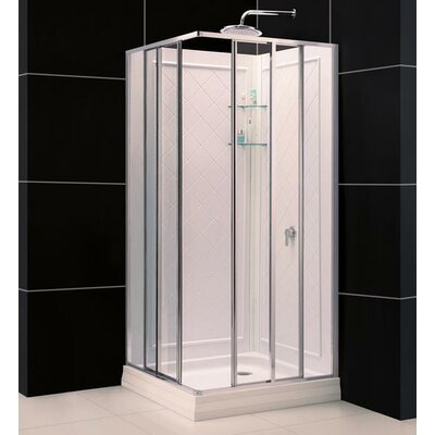 Dreamline Cornerview Sliding Door Shower Enclosure with Quad Base