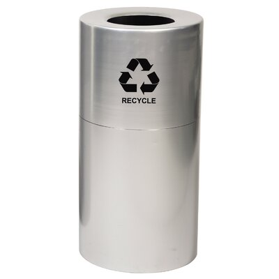 Witt 24 Gallon Aluminum Series Recycling in Satin Clear Coat