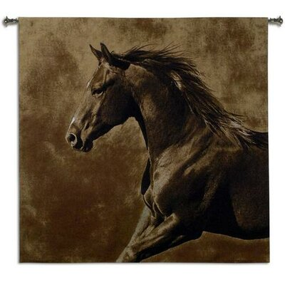 Fine Art Tapestries Westward Gallop BW Wall Hanging