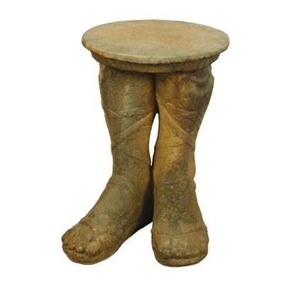 OrlandiStatuary Furniture Roman Feet Outdoor Side Table