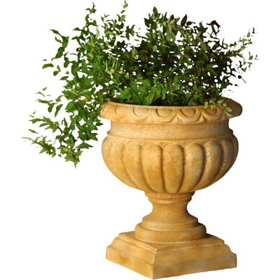 Planter Tall Fluted Round Urn Planter