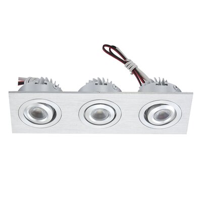 Alico Square 3 Recessed Rectangular Directional Light with Driver