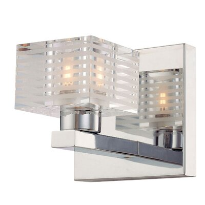 Alico Quatra One Light Bath Vanity in Chrome
