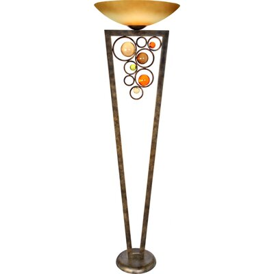 Free Wheeling Wheels Of Steel 1 Light Torchiere Floor Lamp Wayfair