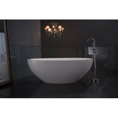 "Aquatica PureScape CristalStone Synthetic Resin 71"" x 36"" Freestanding Acrylic Bathtub"