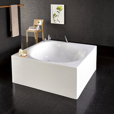 "Aquatica Liquid Space 55"" x 55"" Freestanding Acrylic Bathtub"