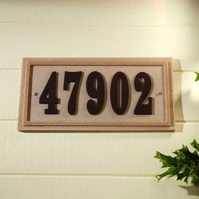 Qualarc Ridge Stone Rectangle Address Plaque Kit