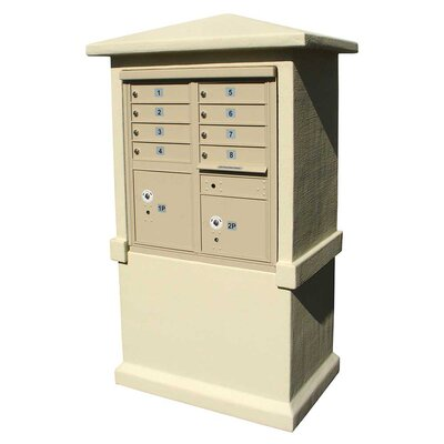 Qualarc Stucco Tall Pedestal CBU Column Mailbox Center Column