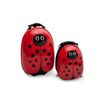 TrendyKid 2 Piece Lola LadyBug Children's Luggage Set
