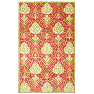 New Wave Hot Pink Elegant Ikat Rug