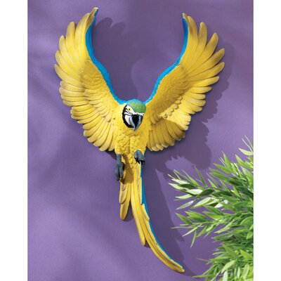 Phineas the Flapping Macaw Bird Wall Sculpture
