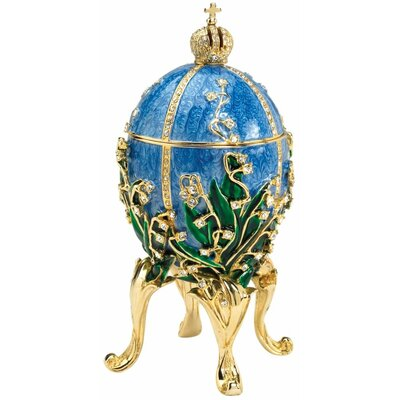 Empress Valentina Faberge-Style Collectible Enameled Egg