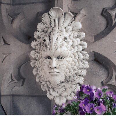 Presence of Carnevale Greenman Wall Sculpture in Antique Stone
