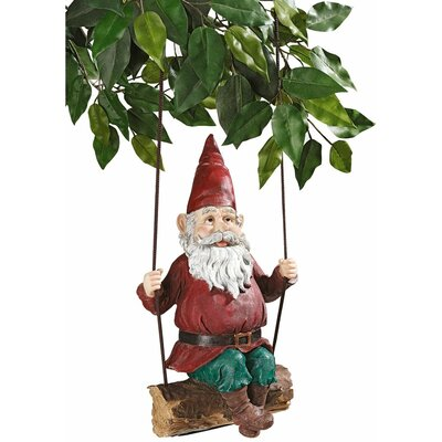 Design Toscano Sammy The Swinging Gnome Statue