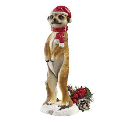 Design Toscano Merry Meerkat Holiday Greeter Statue