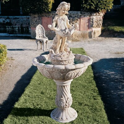 Design Toscano Resin Abigail's Bountiful Apron Fountain