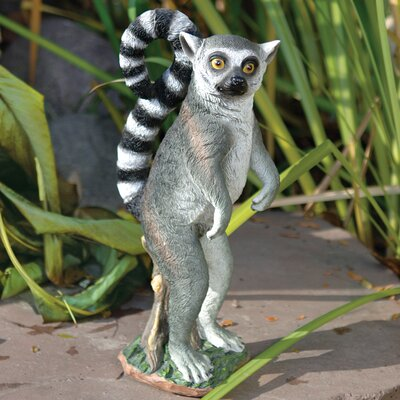 Design Toscano Rulon The Ring-Tailed Lemur Garden Statue