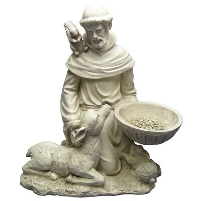 Design Toscano Saint Francis Feeds The Animals Garden Statue