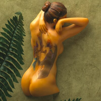 Design Toscano Fairy Maiden Tattooed Woman Wall Sculpture