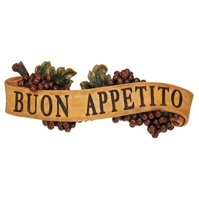 Design Toscano Abbondanza Buon Appetito Sculptural Wall Plaque (Set of 2)